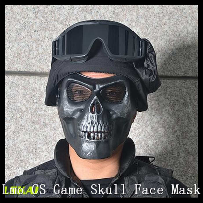 Lmon China Products Store Centre Top Quality Skull Airsoft Hunting War Game Scary Full Face Protect Mask Face mask Biker Ski Live CS Protect Gear Mask Guard Toys