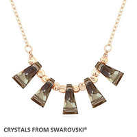 2016 Hot Sale 2 colors necklace jewelry Geometric Shape necklace With Crystals from SWAROVSKI for mother's Day gift