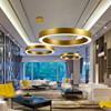 2017 New Modern Nordic Gold Ring Restaurant Pendant Lights Circle Suspension Luminaire Dining Room Kitchen Lights