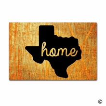 Rubber Doormat For Entrance Door Floor MatHome Texas Creative Designed Mat for Indoor Outdoor Non-woven