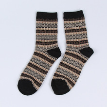 HONNNMOR Vintage Autumn Winter Mens National Style Casual Socks Wool Thicken Meias