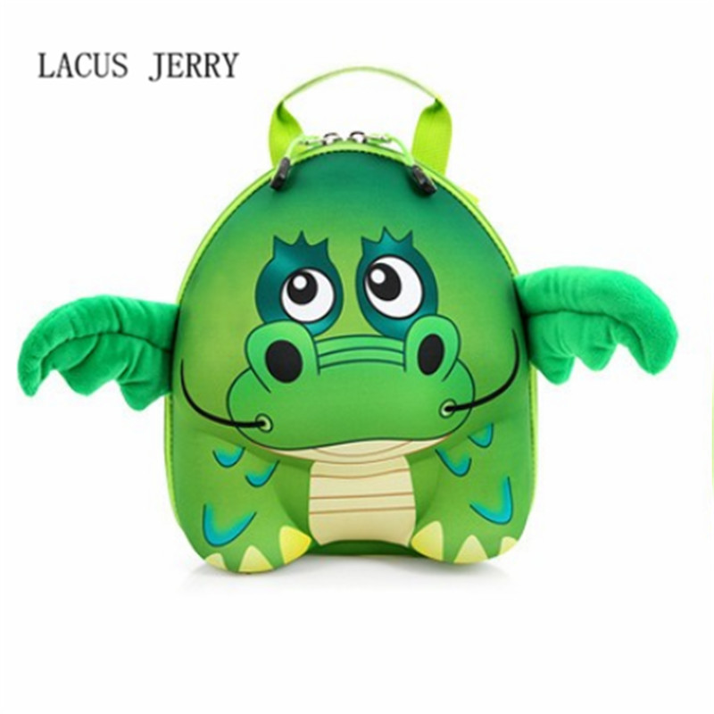 LACUS JERRY 2017 New Pressure Shell Shoulders Backpack 3D Cartoon Child Cute Animal Kindergarten Baby Bag
