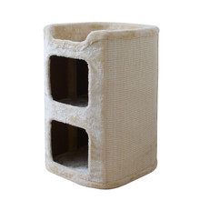 sisal cat tree house  cat post scratching pets luxury  play house  cat scratcher  large wood house for cat free shipping-in Furniture & Scratchers from Home & Garden