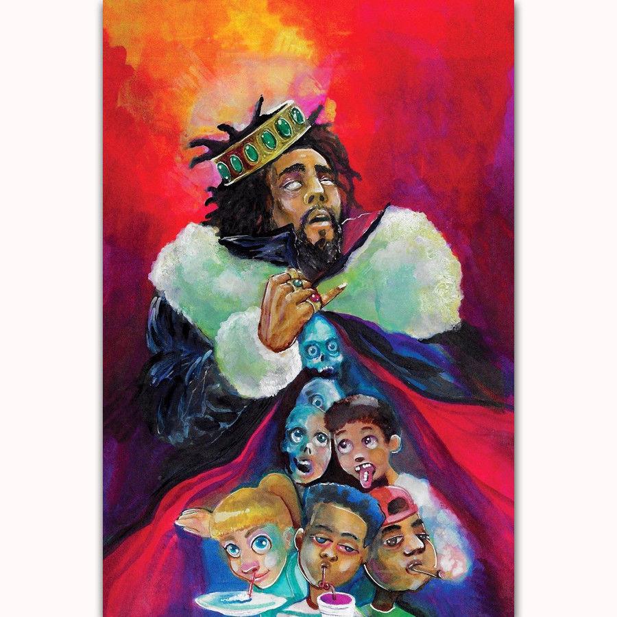 New J Cole Custom Silk Poster Wall Decor