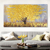 Canvas Oil Painting, Hand Painted palette knife 3D texture Flower and Tree ,Wall Pictures For Living Room home decor,wall art 4