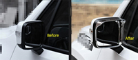 Acessórios Para Jeep Renegado 2015 2016 2017 Espelho Retrovisor Chuva Sobrancelha Lâminas Retrovisor Voltar Espelho Defletor Capa Kit Guarnição