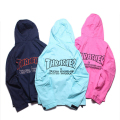 Brand Thrasher Embroidery Jacket Men Women Spring Autumn Outwear Casual Fashion Hoody Solid Black Pink Palace Skateboar Coat XXL