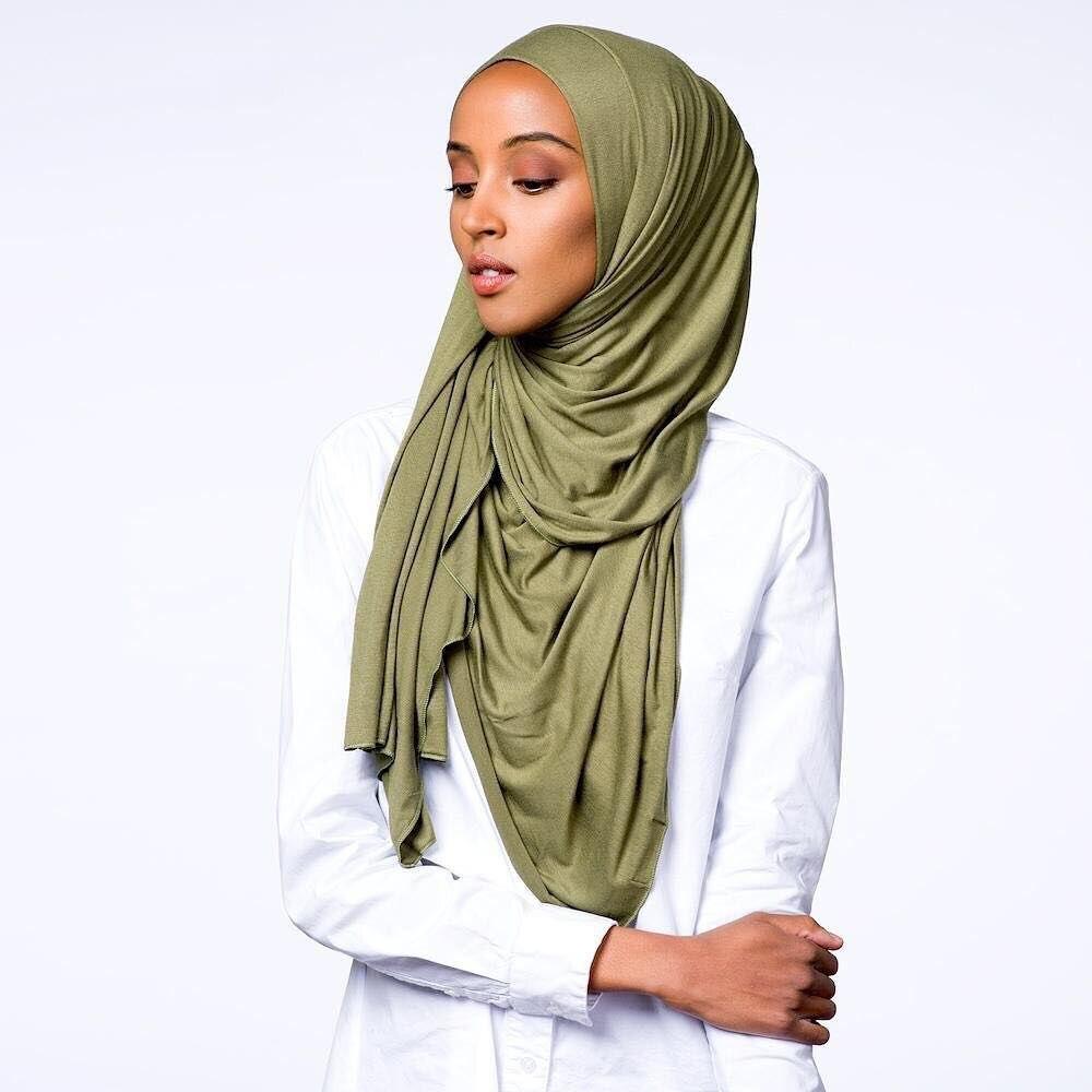 Best Quality Jersey Hijab Soft Materail Long Muslim Shawls Wraps Solid Color 46 Colors 10Pcs/lot