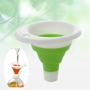 Creative environmental protection multifunctional silicone funnel Folding funnel Portable telescopic leak kitchen tool