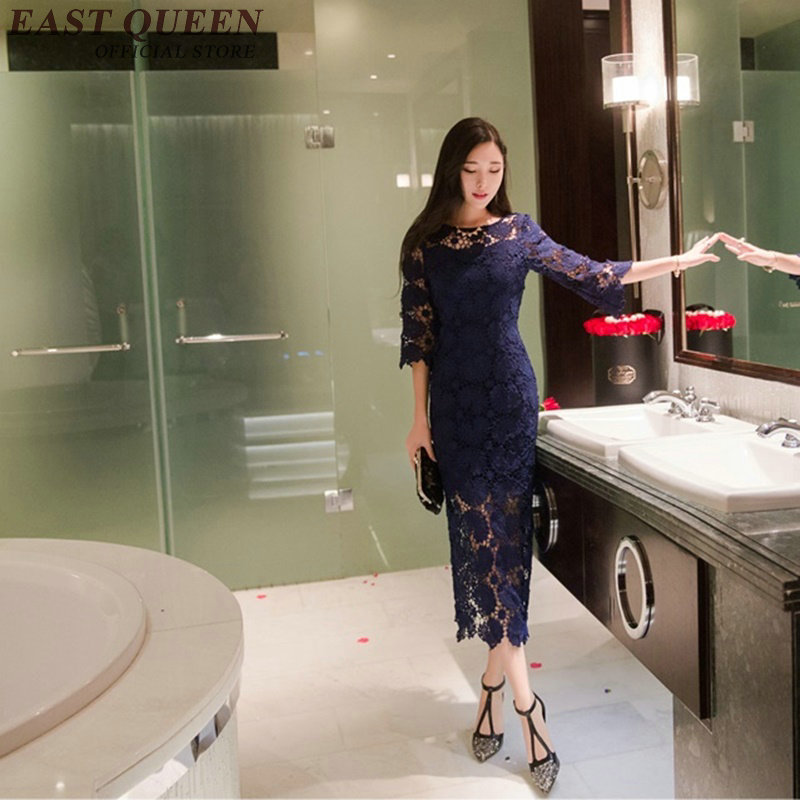 Femmes Pour Sexy Chinois Qipao 1 Kk154 Orienal Robe Cheongsam Moderne 2 Chine Traditionnels Vêtements 8xz0Txdq