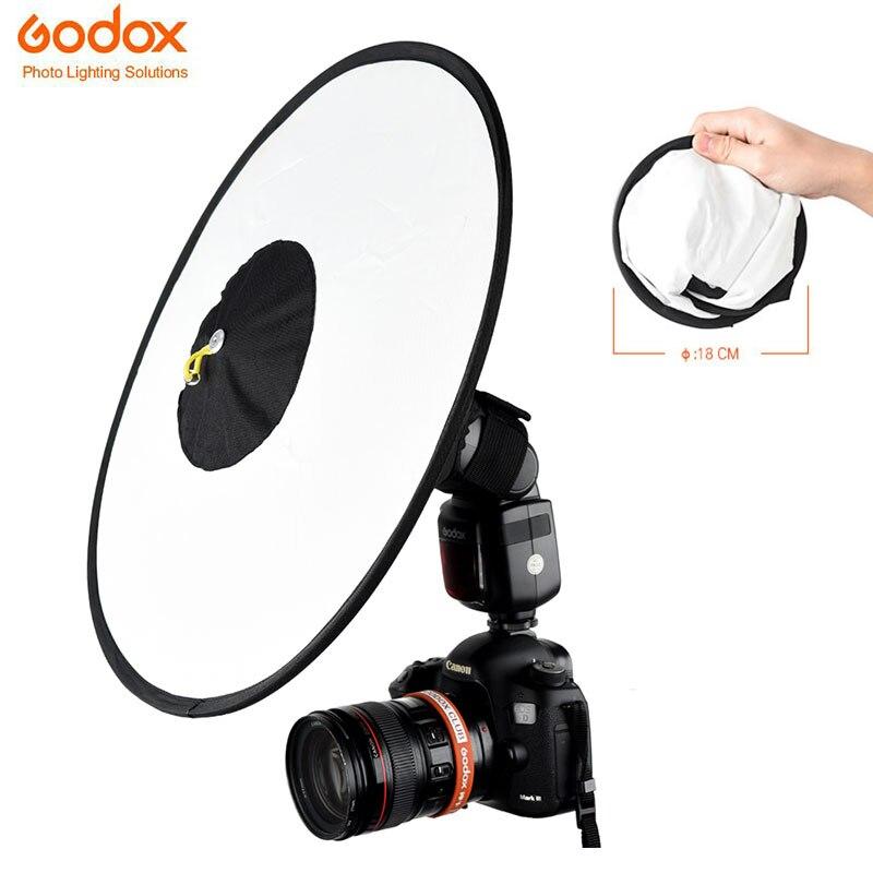 Godox RS18 Conical Flash SoftBox Portable Foldable Circular Soft Box Soft Diffuser For Most Camera Flash