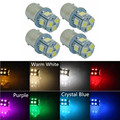 4X 1156 P21W Ba15s 5050 8-SMD LED Brake Tail Turn Signal Rear Light Bulb Lamp 24V White Amber Ice Blue Green Red Pink Purple
