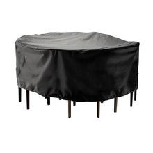 2 rozmiary okrągła pokrywa wodoodporne meble ogrodowe tarasowe pokrycie przeciwdeszczowe pokrowce na krzesła Sofa stół i krzesła odporny na kurz