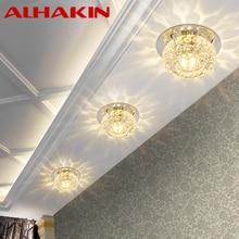 ALHAKIN 3W LED Ceiling Light Crystal Led Lamparas Luxury warm white LED Ceiling Lights for Living Room/ hotel/ reading room