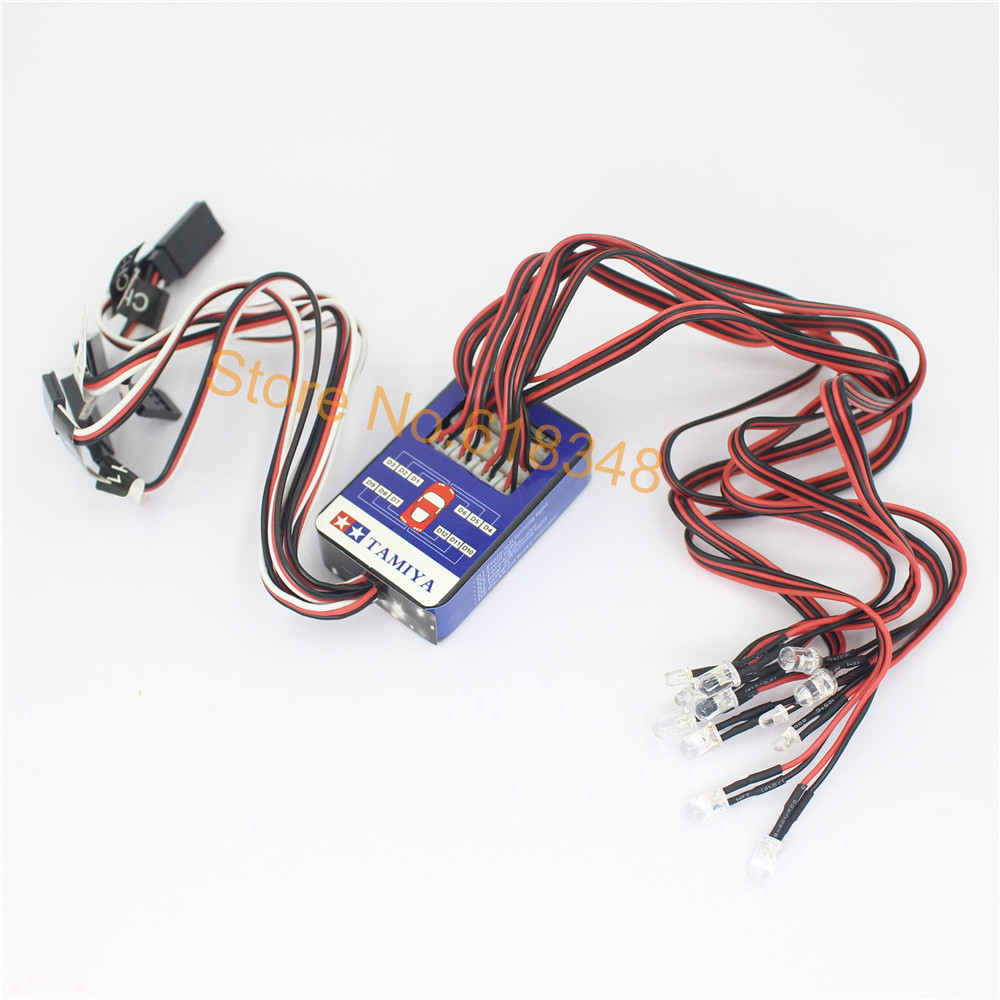 12 LED Lighting System Kit Smart Simulation Lights 1/10 Drift Touring On Road RC Car Tamiya Hop-up options Remote Control