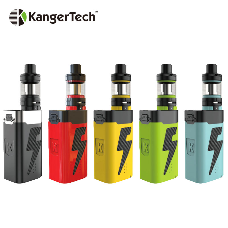 Original Kangertech FIVE 6 Starter Kit 222W Kanger FIVE6 VV Mod 8ml Capacity 0.6ohm Tiger Coil Evaporizer E cigs Vape электронная сигарета kangertech dripbox kit черная
