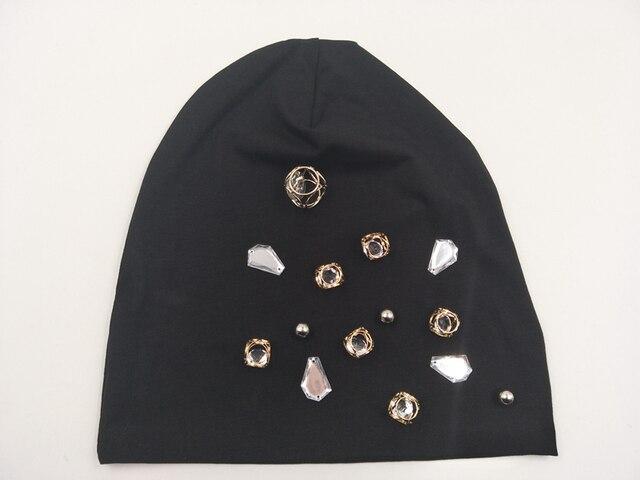 B17930 bonnets de décoration en cristal | Style 100% coton, style cube et strass scintillants, couleur solide, chapeau dété, personnalisé, nouveau