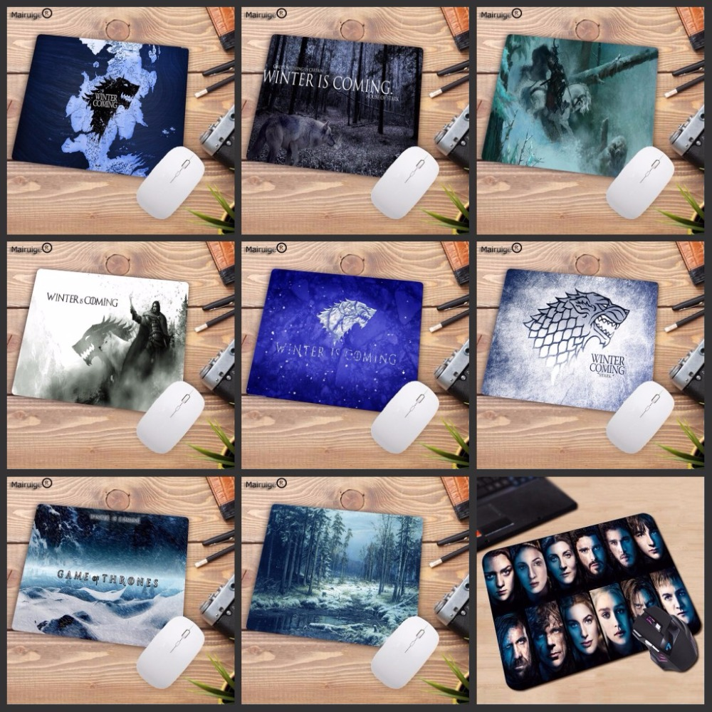 Mairuige Promotions For Russia Print Gaming Mousepads Cheap Game of Thrones Anti-Slip Laptop PC Mice Pad Mat for Optical Laser image