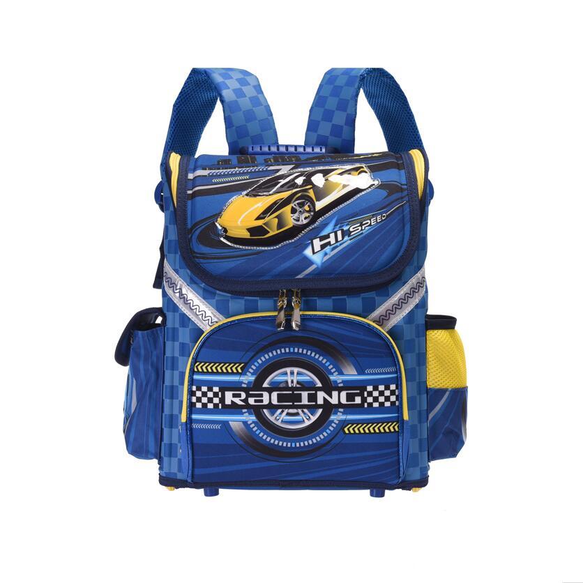2 model Kids quality boys school Backpack EVA FOLDED orthopedic cars Children School Bags mochila infantil bag for boys
