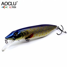 Купить с кэшбэком 2018 AOCLU NEW LURE wobblers 110mm 22g Floating Pike Amur pikc Hard Bait Minnow Depth 2m fishing lure VMC hooks 6 colors tackle