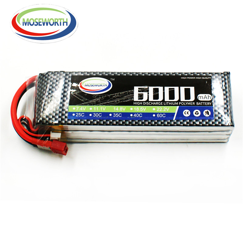 MOSEWORTH RC Lipo Battery 4S 14.8V 6000mAh 60C for RC modlel Aircraft Helicopter Quadcopter RC Drone batteria AKKU moseworth 4s rc lipo battery 14 8v