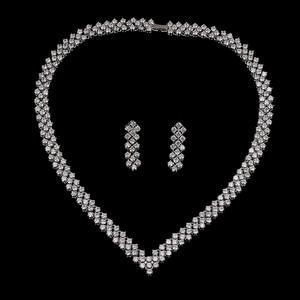 Image 2 - Emmaya New Zircon Crystal Rhinestone Stone Earrings Necklace Jewelry Set Wedding Party New Women Free Shipping
