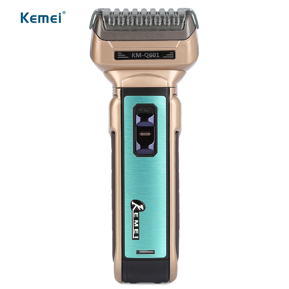 Hot Kemei Portable Electric Shaver EU Plug with Hair Cutter Twin Blades Multi-function Travel Use Safe Razor for Men KM-Q601 kemei km 604b portable dry dual use electric shaver barber fader hair care