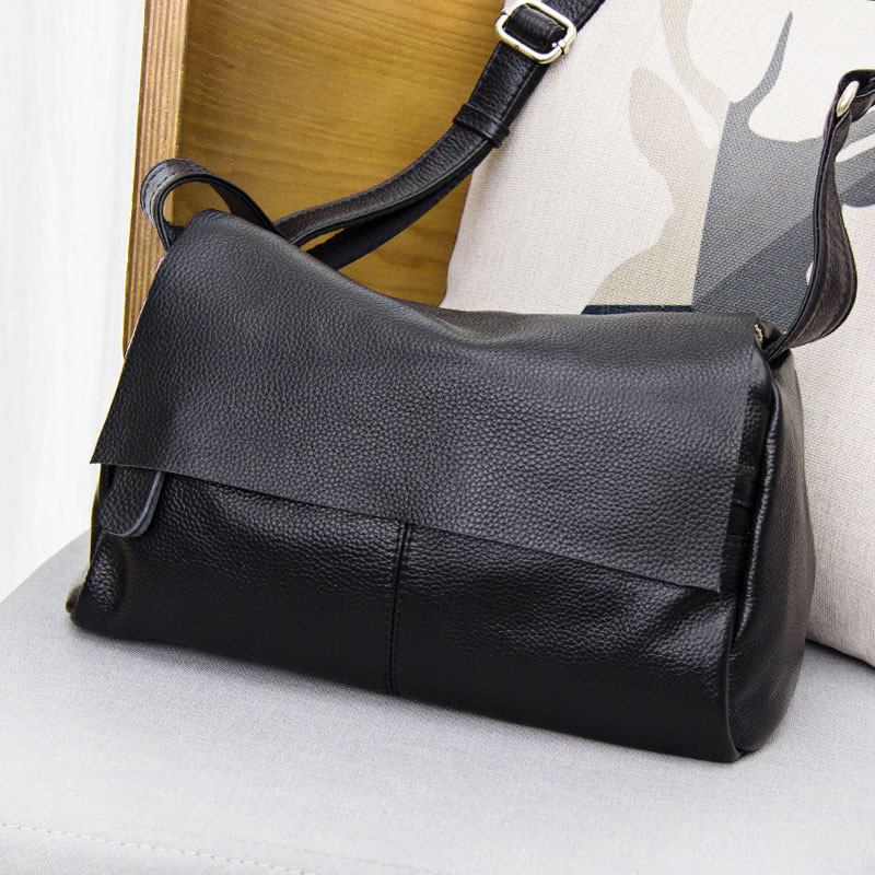 Luxury Famous Simple Cow Leather Women Bag 100% Genuine Leather Handbag Tote Shoulder Shoulder & Crossbody Casual Bag european and american style simple cow leather women bag 100% genuine leather handbag tote shoulder shoulder & crossbody bag