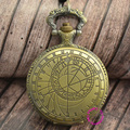 man Bronze old fashion men's Signs the Zodiac astronomy men ancient pocket watch doctor who Vintage hour good quality