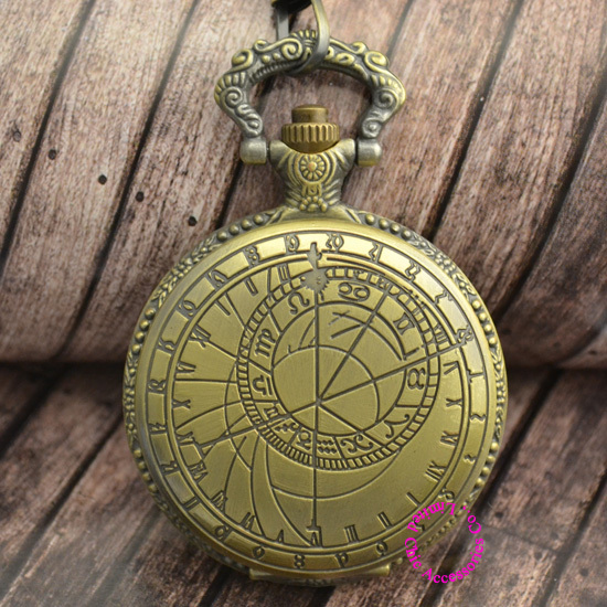 man pocket watch doctor who Bronze old fashion men's Signs