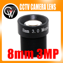 "3MP 8mm Lens 1080P 1/2.7"" 8mm For HD Full HD CCTV Camera IP Camera M12*0.5 MTV Mount"