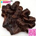 8A Color mezclado Aunty Funmi Bouncy rizos rizos Aliexpress mejores extensiones de cabello humano 3 unids/lote Piano Color del pelo brasileño virginal Funmi