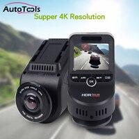 Professional Car DVR with 4K 2160P Dash cam with 1080P Rear Camera Novatek 96663 Night Vision DVR camera with GPS logger