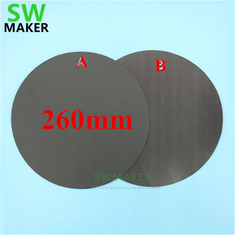 260mm Round Magnetic Adhesive Print Bed Tape Print Sticker Build Plate Tape Flexplate A+b For Diy Kossel/delta 3d Printer Parts Large Assortment Computer & Office