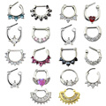 Mulheres Septo Clicker Piercing Septo e Piercing No Nariz Jóias Da Moda Zircão Aro Nariz Anéis Body Piercing Jóias Anéis de Septo