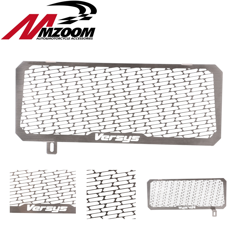 Motorcycle stainless steel Radiator Grille Guard Cover Protector For Kawasaki VERSYS 650 2015 2016 kemimoto motorcycle radiator grille guard cover protector for kawasaki er6n 2012 2013 2014 2015 2016 motorcycle accessories