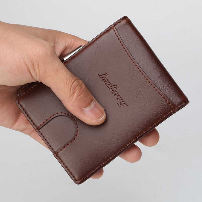Fashion Design PU Leather Male Men Wallets Credit Card Holder Purse Short Mini Wallet Coin Pocket Bag Pocket Slim Wallet For Men williampolo genuine leather men design slim thin mini wallet male small purse credit card short coin ultrathin wallet pl250