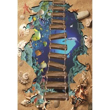 Laeacco Underwater Animal Shell Ladder Baby Children Cartoon Scene Photographic Background Photography Backdrop For Photo Studio