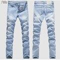 2016 Moda calças de Brim Dos Homens Denim Calças Para Homens Lixívia de Lavagem Com Água Casuais Calças Jeans Stretch