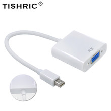 TISHRIC Untuk MacBook Air Pro iMac Mac Mini Display Port Thunderbolt Mini DisplayPort Mini DP Ke VGA Adapter Kabel 1080 P(China)