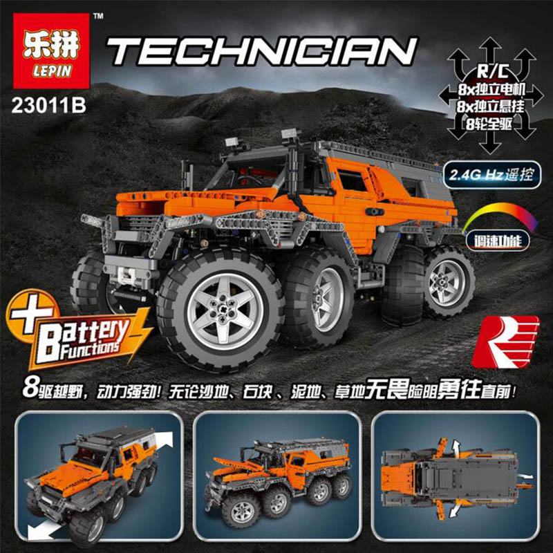 New LEPIN 23011B 3021Pcs Technic Series Off-road vehicle Model Building Kits Block Educational Bricks Compatible Toys Gift 5360 lepin 22001 pirate ship imperial warships model building block briks toys gift 1717pcs compatible legoed 10210