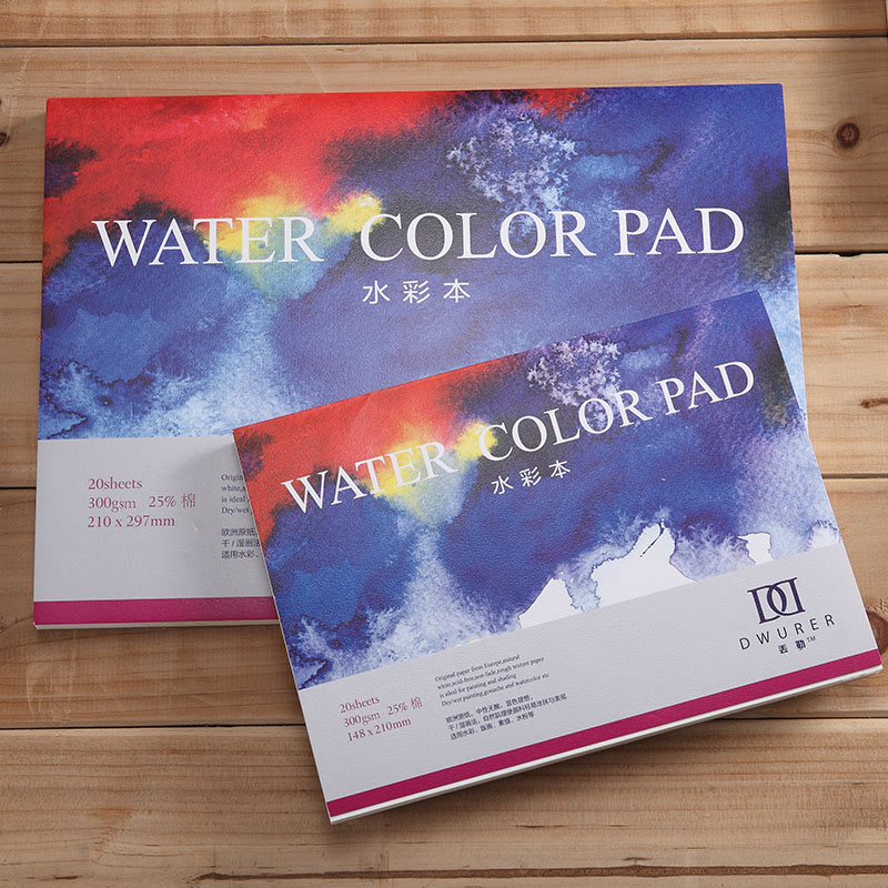 DORERART 300gsm Watercolor Pad 25% Cotton Watercolor Sketchbooks for Artist Painting Water Color Art Supplies 20Sheet