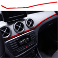 1 pc Car Central Instrument Red Decoration Cover Stainless Steel Sticker For  Mercedes Benz GLA 200 220 260 CLA