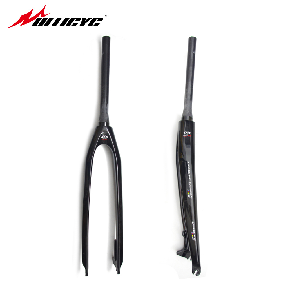 New Ullicyc  Mountain bike UD full carbon fibre hard bicycle disc brake front fork MTB 26er 27.5er 29er parts Free ship full carbon tapered road bike carbon fork ud weave bicycle parts for 700c highway tire bicicleta parts free shipping