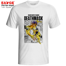 Cancer Deathmask T Shirt Gold Saints Anime Saint Seiya Knights of the Zodiac Rock Novelty T-shirt Active Skate Print Unisex Tee lc model lcm saint seiya cloth myth ex cancer deathmask action figure cavaleiros do zodiaco