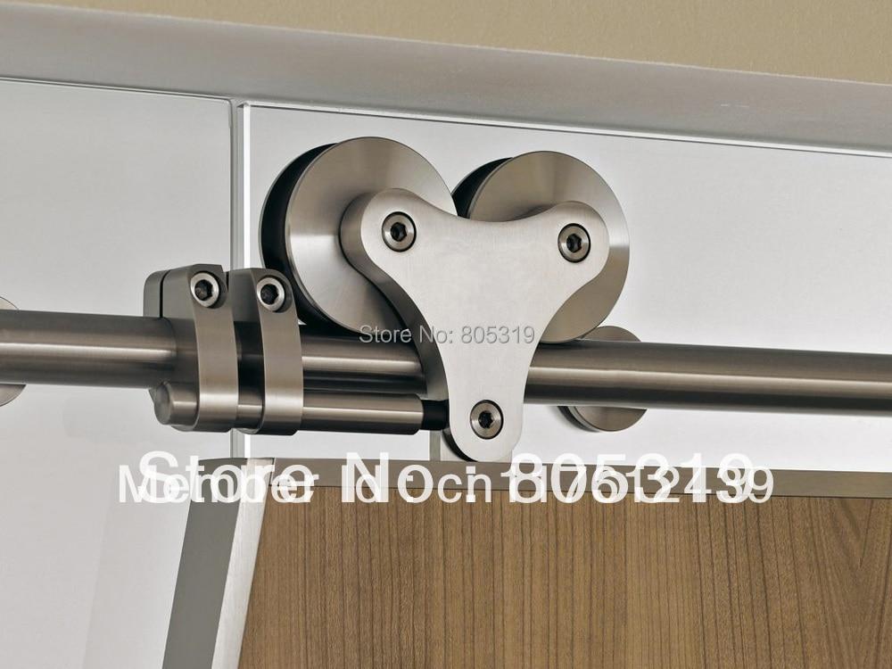 5ft 13ft Top Mount Solid Twin Roller Barn Door Hanger Kit