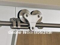 5ft-13ft Top mount solide double rouleau grange porte cintre kit acier inoxydable coulissante grange le rail de porte placard kit
