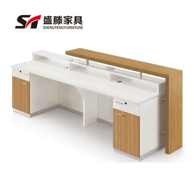 Simple Modern Desk rectangular plate simple modern fashion company image front desk