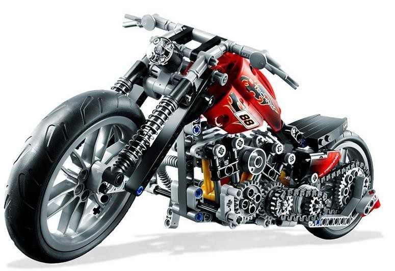 DECOOL 3354 Motorcycle Harley Vehicle Model building kits compatible with lego city 3D blocks Educational toys