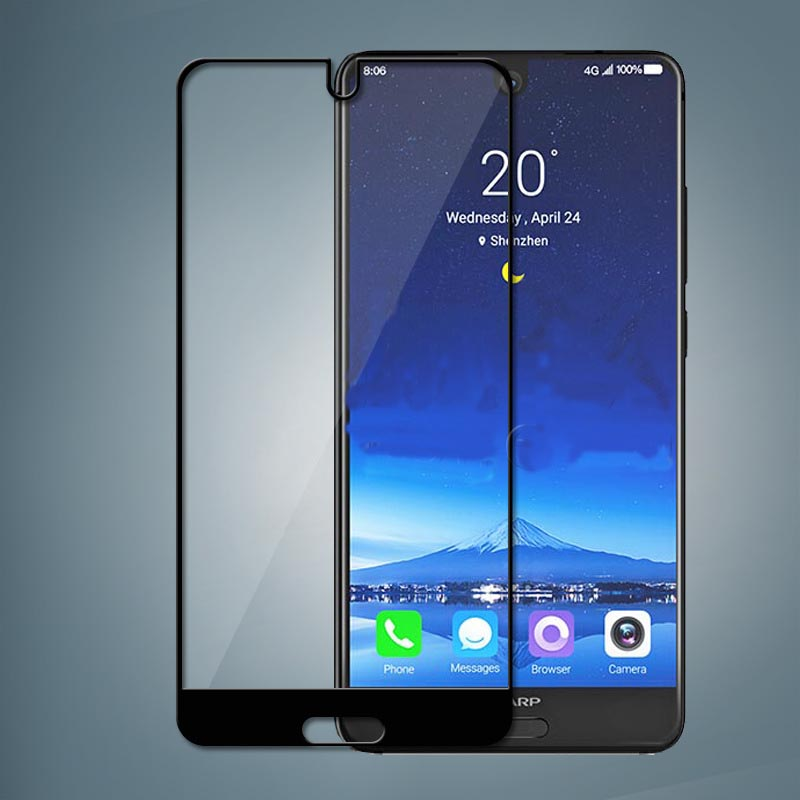 """9H Tempered Glass For Sharp Aquos S2 Full GULE Cover 9H Protective film Screen Protector For Sharp Aquos C10 5.5"""""""